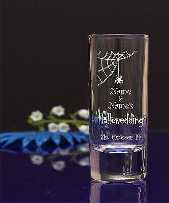 Personalised Halloween Engraved Shot glass Birthday Gift Idea Stag Hen Wedding - Halloween Birthdays Ideas