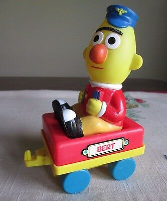 Sesame Street Tyco  VINTAGE Bert  Train Car from Big Bird's Wind Up