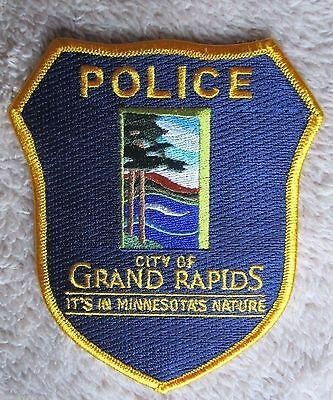 "Grand Rapids Police Patch - Minnesota - 4"" x 4 1/2"""