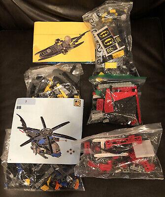 Lego Batman Lot 76027 Batboat 76052 76054 Bat Copter + 6863 Bat Plane Batwing