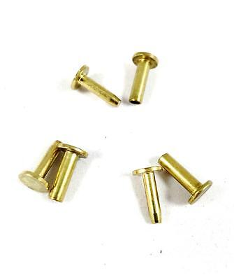 """Cutlers Cutlery Rivets 5/16"""" x 5/8"""" Knife Making Handle Pins- BRASS - 6 sets"""