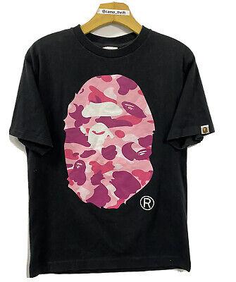 Bathing Ape Pink Camouflage Double Sided Bape Shirt Black Size Medium Japan