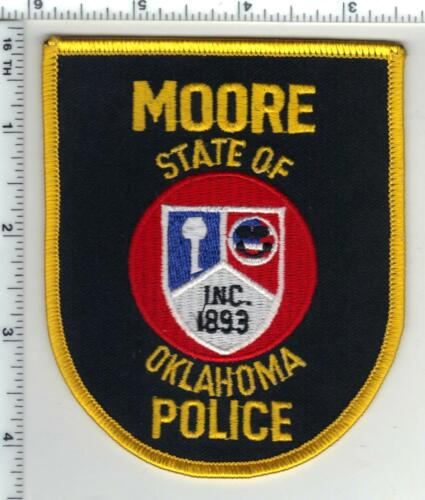 Moore Police (Oklahoma) 1st Issue Shoulder Patch from the 1970