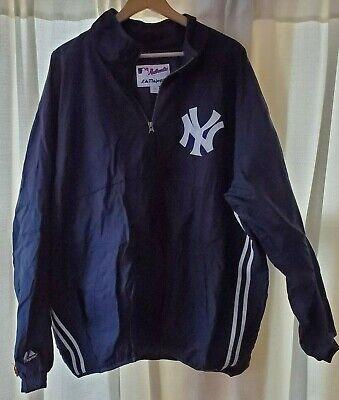 New York Yankees 1/4 Zip Jacket by Majestic Size XXL