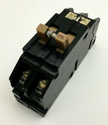 70a Zinsco Magnetrip 70 Amp 2 Pole 1-12 Wide Breaker Type T-c Or Qc . Qcal