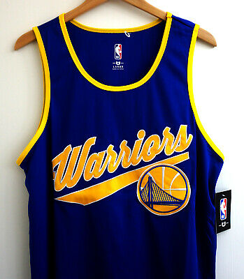 Rare Golden State Warriors NBA Throwback Script Jersey Stitched Large New NWT
