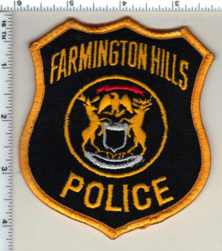 Farmington Hills Police (Michigan) Uniform Take-Off Shoulder Patch from 1980