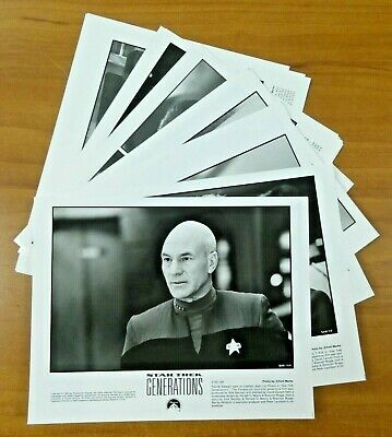 Star Trek Generations Press Photo Lot of 21 Photos