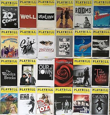 Random Lot of 24 PLAYBILLS from BROADWAY, off-Broadway and Beyond.