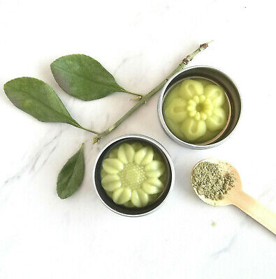 2 Organic Matcha Green Tea Cocoa Butter Solid Hard Lotion Bar Body Moisturizer - Cocoa Green Tea