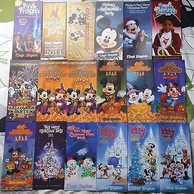 Magic Kingdom Halloween & Christmas Parties Ephemera 18 Items 2006 - 2017