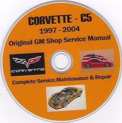 Corvette C-5 1997 -2004 Original GM SHOP - SERVICE - REPAIR - MAINTENANCE MANUAL