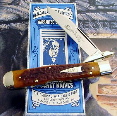 Case Classic Cheetah Knife 1996 Issue Antique Red Bone Only 88 Made MIB AAA+ NR