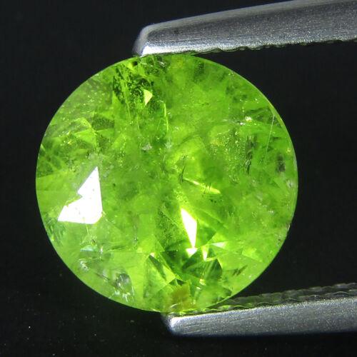 3.10Cts Excellent 100% Natural Green Mali Garnet Nice 8.7mm Round Loose Gemstone