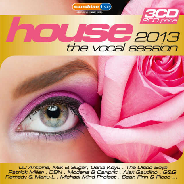 CD House The Vocal Session 2013 von Various Artists   3CDs