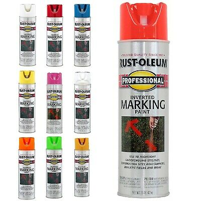 Professional 15 oz. Florescent Inverted Marking Highlighter Aerosol Spray Paint Inverted Marking Spray Paint