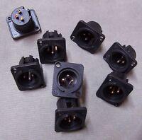8 Connettori Neutrik Cannon Xlr Maschio Da Pannello X Mixer Microfono -  - ebay.it