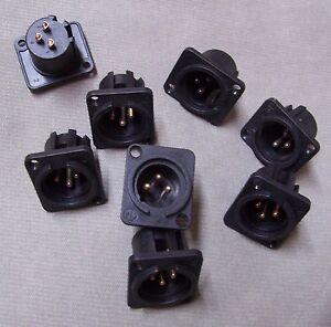 8 connettori NEUTRIK Cannon XLR Maschio da pannello x Mixer microfono - Italia - L'oggetto può essere restituito - Italia