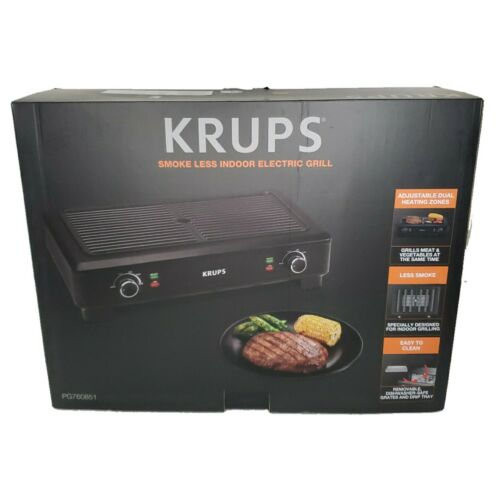 KRUPS PG760851 Electric Indoor Adjustable Temperature Smokel