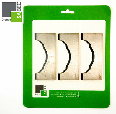New Moulding Knives Kit Of 3 Handrail 3.0 Woodmaster Compatible 1049