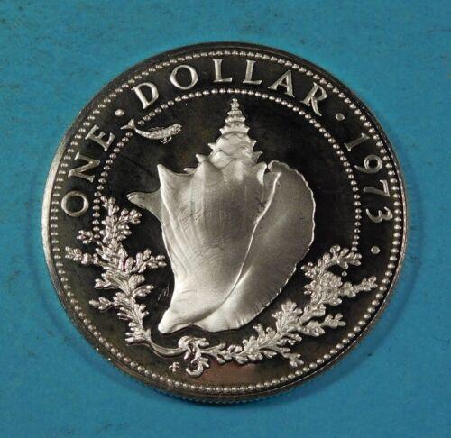 1973 BAHAMA 1 DOLLAR COIN - Silver - PROOF