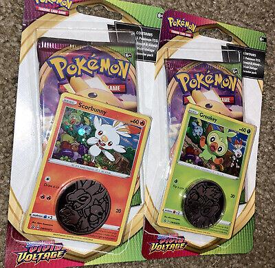 2 Pokemon Vivid Voltage Booster Box Blister Packs With Promo Rainbow Pikachu
