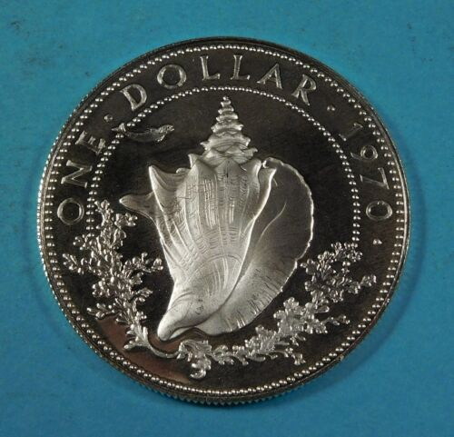 1970 BAHAMA 1 DOLLAR COIN - Silver - PROOF