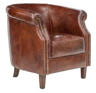 100% Genuine Leather Tub, Club Chair, Armchair Blue Mountains Preview