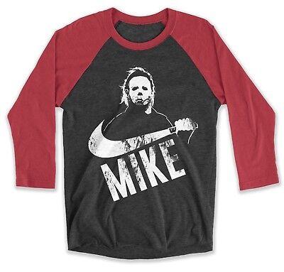Halloween Shirt Raglan Mike Michael Myers Horror Movie Shirt Mens