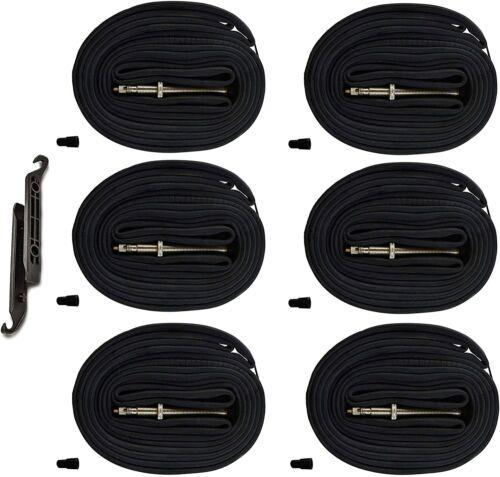 6PCS 28 700x23-25C Road Bike Replacement Inner Tubes Presta Valve 42mm 700c x 23