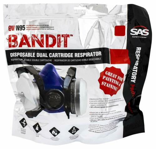 SAS 8661-93  DUAL CARTRIDGE  PAINTING RESPIRATOR