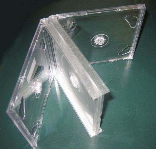 2 New High Quality Rare Multi-4 Quad CD Jewel Case w/Clear Tray, Assembled, GF4