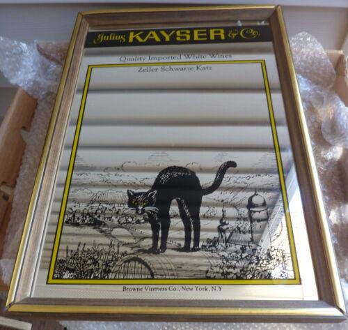 """JULIUS KAYSER & CO. ADVERTISING MIRROR ZELLER SCHWARZE KATZ WHITE WINE - 13""""X18"""""""