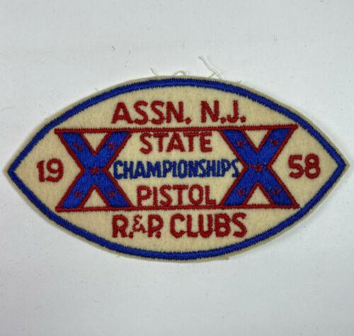 Association New Jersey State Rifle & Pistol Clubs Championships 1958 Felt Patch