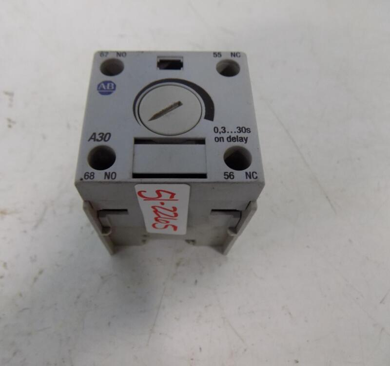 ALLEN BRADLEY AUXILIARY TIMING RELAY 100-FPT SERIES B