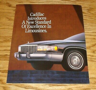 1975 Cadillac Fleetwood Eldorado DeVille Limousine Dealer Sales Brochure
