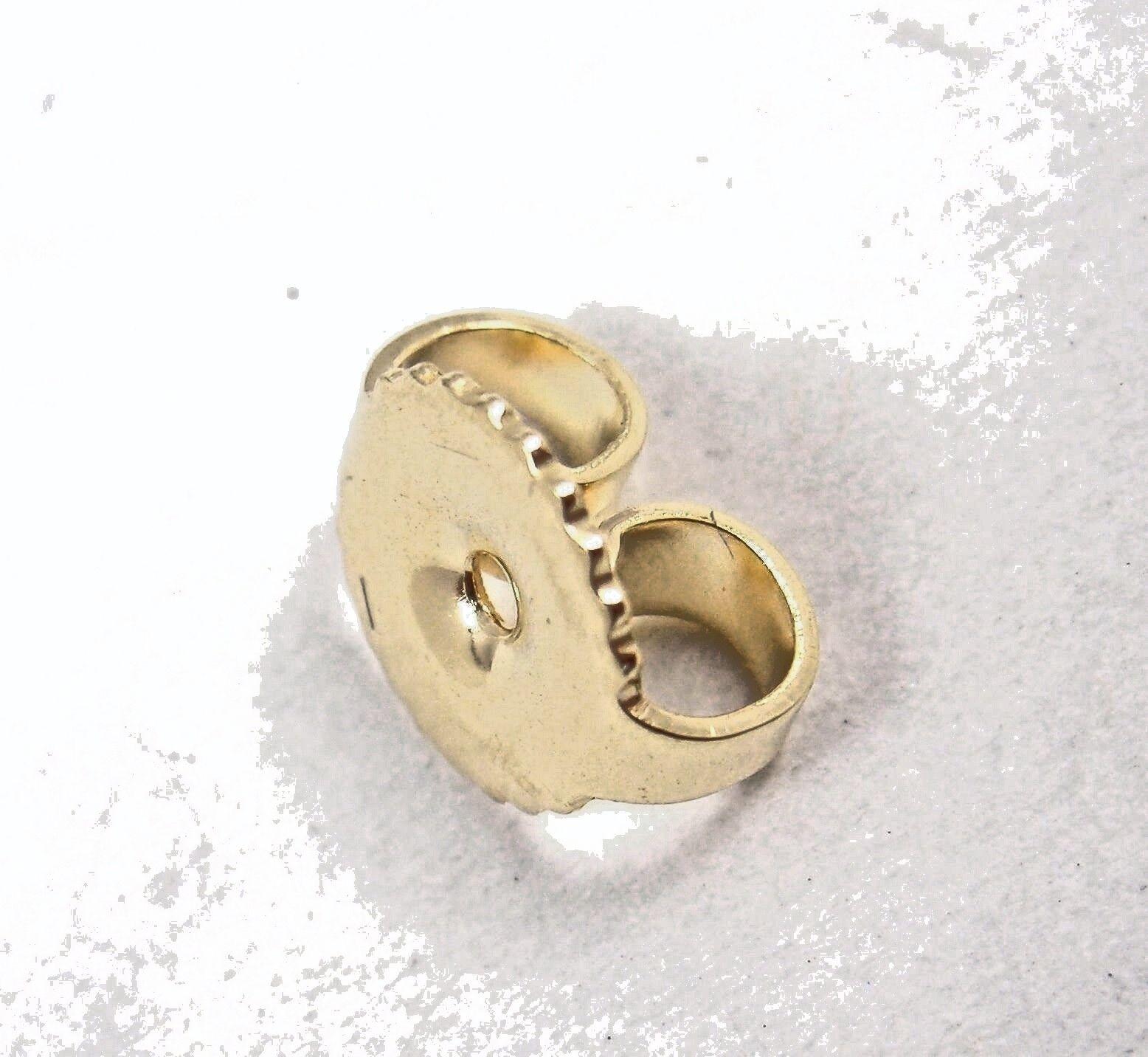 Tiffany Co. E. Peretti 18K Yellow Gold Full Heart Stud Earrings In Pouch Box - $899.99