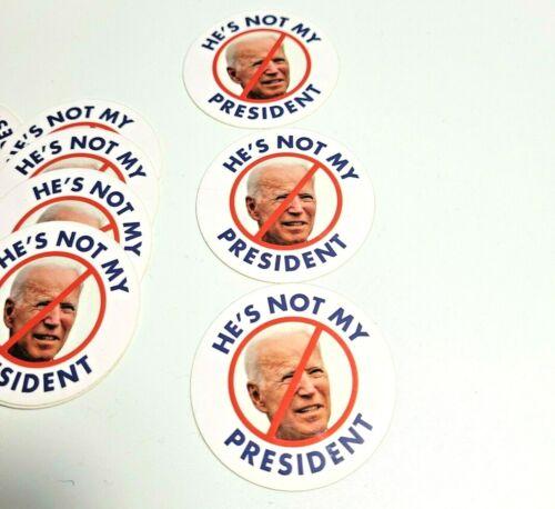 PRO TRUMP 5 PACK NOT MY PRESIDENT Bumper Sticker Decal ANTI BIDEN USA