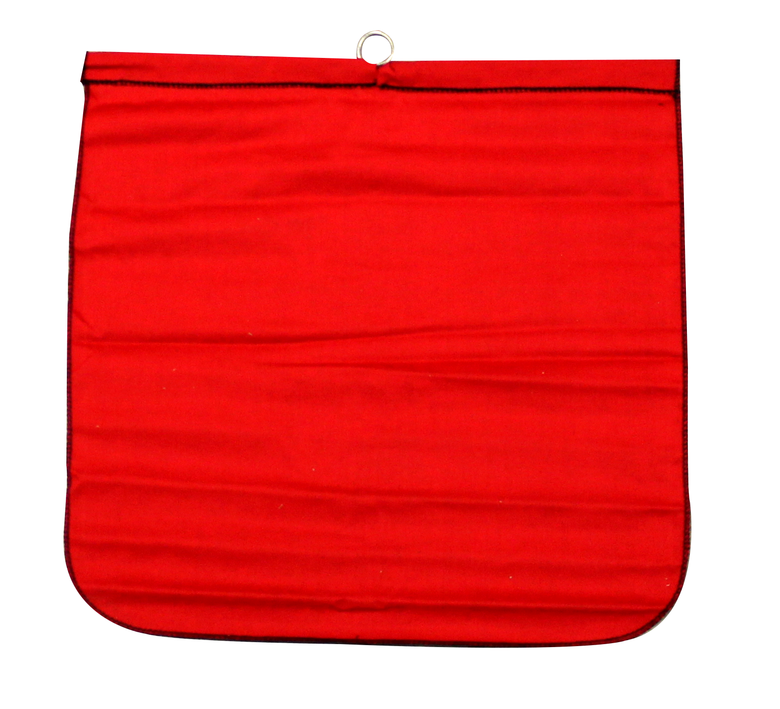 """18"""" x 18"""" Cotton Safety Flag with Steel Wire Rod"""