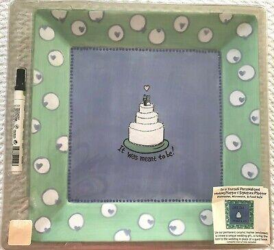 Ceramic Wedding Platter - Lorrie Veasey Ceramic Wedding Signature Platter Personalize Unique Shower GIFT