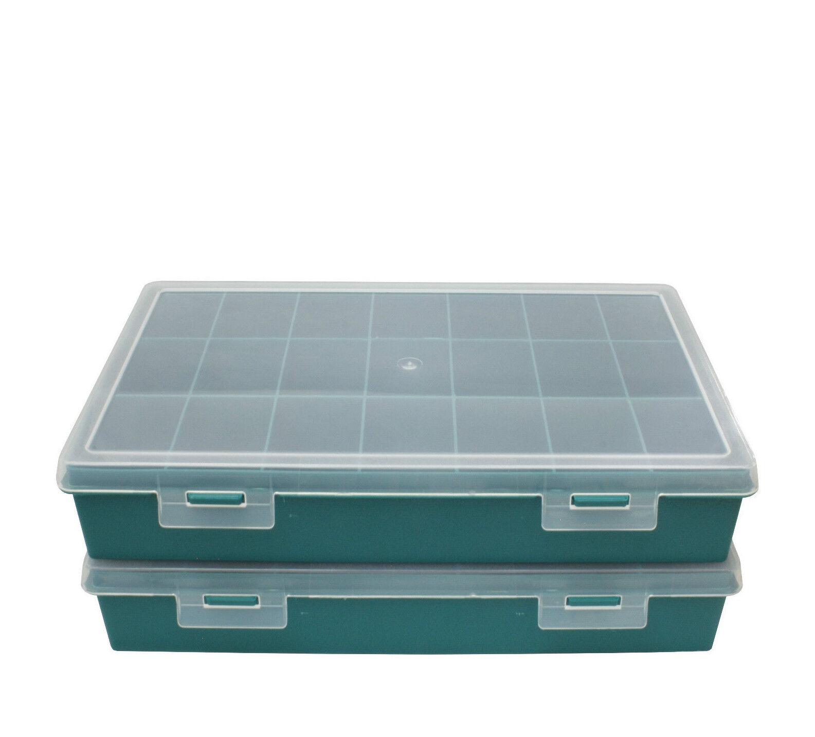 Sortimentskasten/Sortierboxen mit 11 u. 21 Fächern z.B. f. Schrauben/Kleinteile