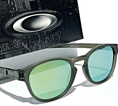 NEW* Oakley LATCH Matte Dark Green Olive Ink EMERALD Iridium Sunglass 9349-03