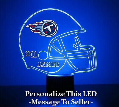 Tennessee Titans NFL Football Light Up Lamp LED With Remote and Personalize FREE](Light Up Footballs)