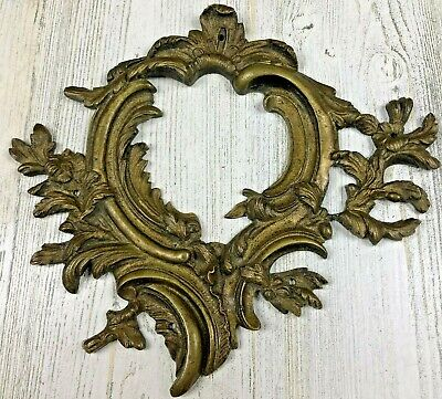 Sterling Silver Finish Brass Stampings TWO Floral Garland Base