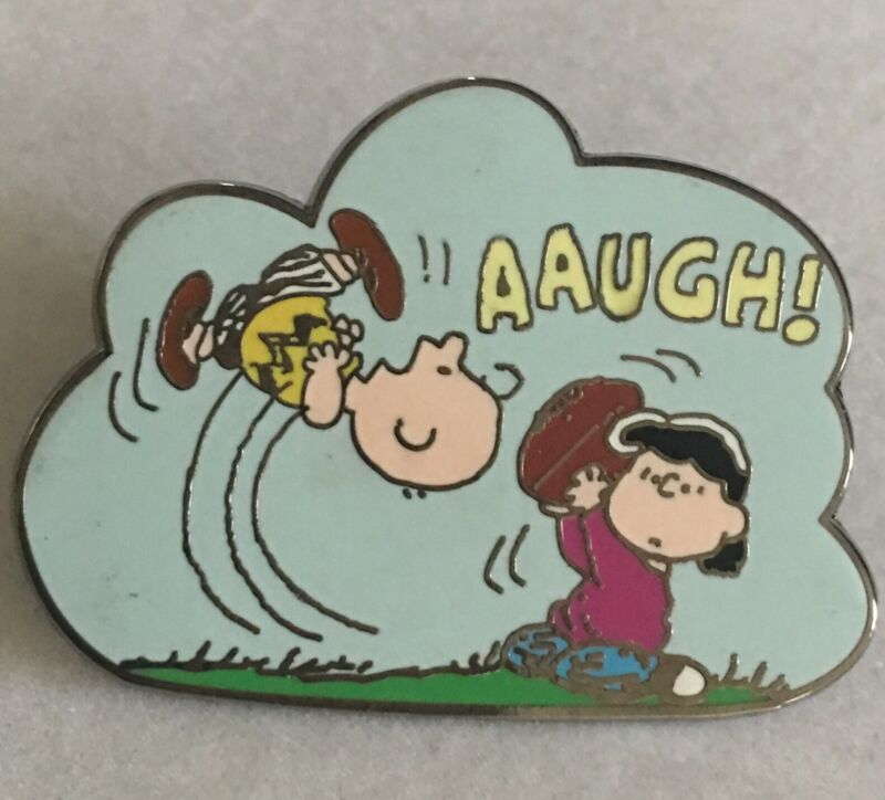 Peanuts Charlie Brown Pin Football Player Lapel Pin Lucy Kicker Enameled