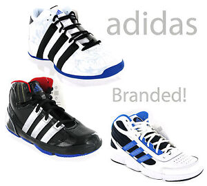 New-Boys-Adidas-Hi-Top-Baseball-Basketball-Trainers-Shoes-Size-13-6