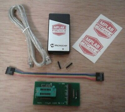 Icsp Adapter Zif 814 W Authentic Pickit 4 Usb Programmer