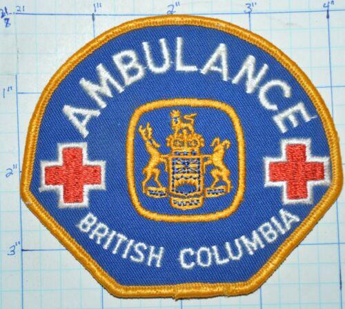 CANADA, BRITISH COLUMBIA AMBULANCE EMERGENCY RESCUE EMS PARAMEDIC PATCH
