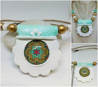 Collar artesanal algo desigual,Mandala/Handmade necklace,Mandala,exclusive