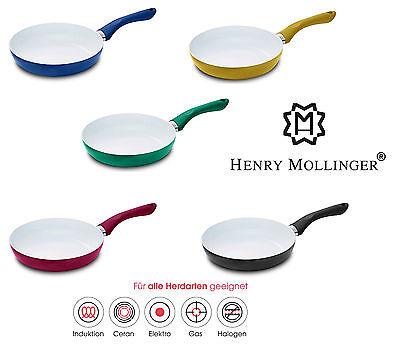 Original Henry Mollinger Keramik Pfanne Bratpfanne Induktion geeignet s bunt Original Keramik